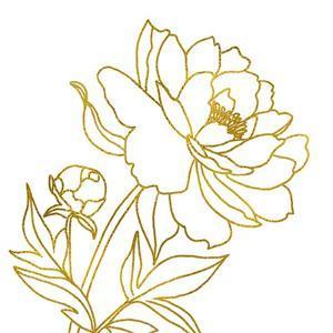 Gold Floral III by Elizabeth Tyndall