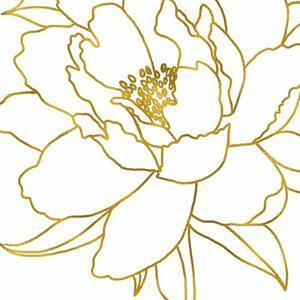 Gold Floral VI by Elizabeth Tyndall