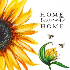 Home Sweet Home Sunflower by Elizabeth Tyndall
