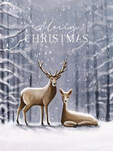 Merry Christmas Deer by Elizabeth Tyndall