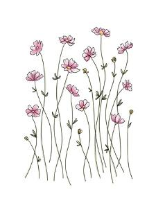 Pink Wildflowers by Elizabeth Tyndall