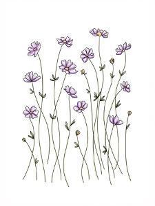 Purple Wildflowers by Elizabeth Tyndall