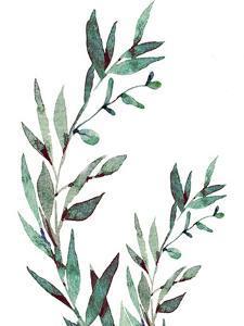 Watercolor Leaves by Elizabeth Tyndall