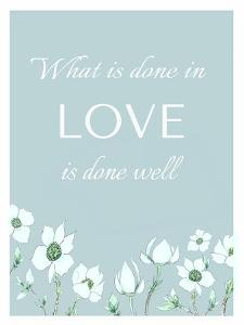 What is Done by Elizabeth Tyndall