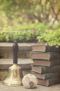Book, Bell, and Globe Outdoors by Elizabeth Urqhurt
