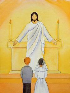 At their First Holy Communion Children Meet Jesus in the Holy Eucharist, 2006 by Elizabeth Wang