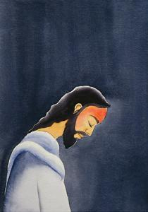 In His agony Jesus prays in Gethsemane to His Father, 2006 by Elizabeth Wang