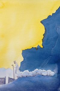 Jesus Christ Is the Good Shepherd Who Leads His Sheep, 2006 by Elizabeth Wang