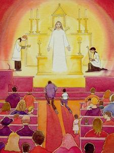 Jesus Christ Is Truly Present in the Blessed Sacrament, 2005 by Elizabeth Wang