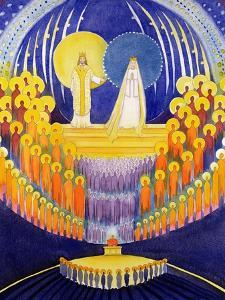 The Coronation of the Virgin Mary and the Glory of All the Saints, 2003 by Elizabeth Wang