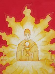 The Presence of Jesus Christ in the Holy Eucharist Is Like a Consuming Fire, 2003 by Elizabeth Wang