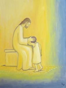 When We Repent of Our Sins Jesus Christ Looks on Us with Tenderness, 1995 by Elizabeth Wang