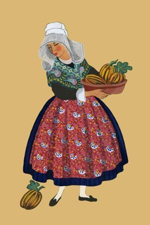 A Young Girl from Champagne Carries Gourds by Elizabeth Whitney Moffat