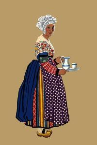 Woman from St. Germain, Lembron Serves a Pitcher of Milk for Coffee or Tea by Elizabeth Whitney Moffat