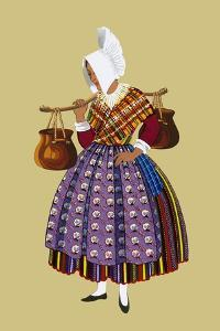 Young Woman Milk Carrier from the Countryside of Artois by Elizabeth Whitney Moffat
