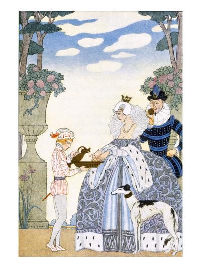 Elizabethan England, from 'The Art of Perfume', Pub. 1912 (Pochoir Print)-Georges Barbier-Giclee Print