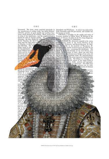 Elizabethan Swan-Fab Funky-Art Print
