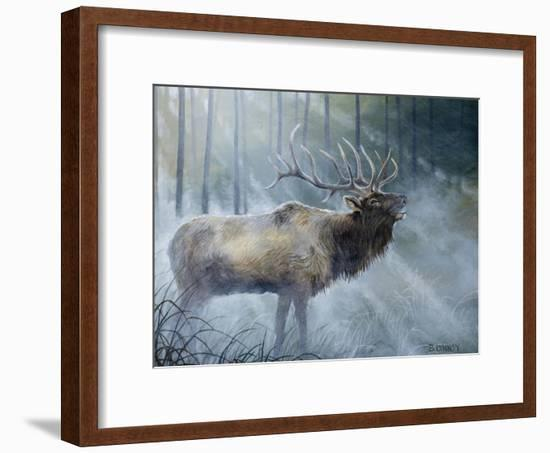 Elk Journey III-B. Lynnsy-Framed Art Print