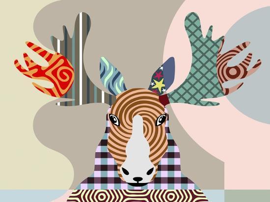 Elk Moose-Adefioye Lanre-Giclee Print