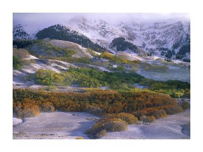 Elk Mountains with dusting of snow, Colorado-Tim Fitzharris-Art Print