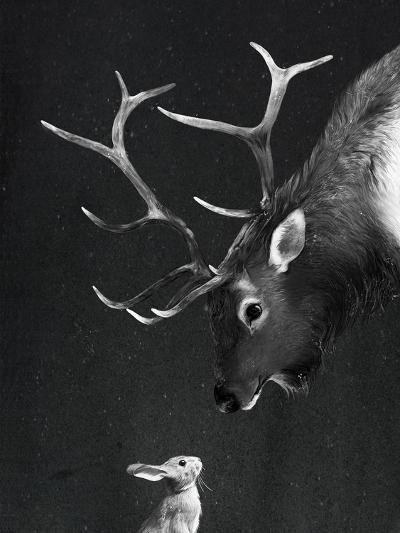 Elk&Rabbit-Laura Graves-Art Print