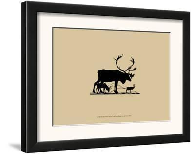 Elk Silhouette I--Framed Art Print