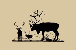 Elk Silhouette II
