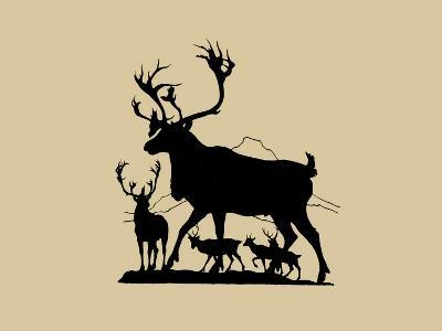 Elk Silhouette IV-Vision Studio-Art Print