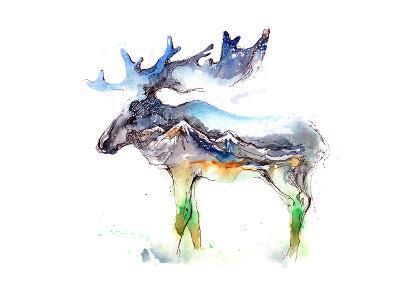 Elk-okalinichenko-Art Print