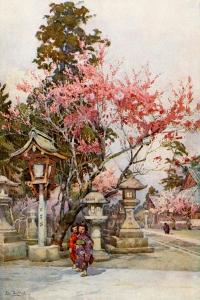 Plum Blossom and Lanterns by Ella Du Cane