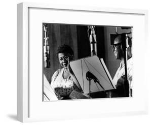 Ella Fitzgerald, American Jazz Singer with Louis Armstrong, Jazz Trumpet Player
