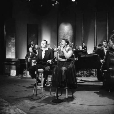 Ella Fitzgerald and Frank Sinatra - 1958-Howard Morehead-Photographic Print