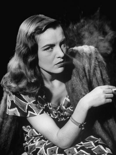 "Ella Raines Smoking a Cigarette in the Motion Picture ""Brute Force""--Photographic Print"