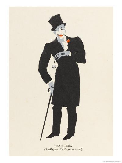 Ella Shields Music Hall Entertainer: Burlington Bertie from Bow-Elizabeth Pyke-Giclee Print