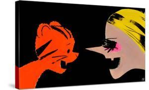 Tigers vs. Witches, 2012 by Ellen Berkenblit
