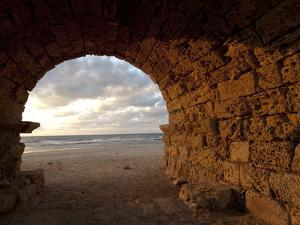 Aqueduct Ruins, Caesarea, Israel by Ellen Clark