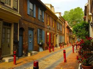 Elfreth's Alley, Philadelphia, Pennsylvania, USA by Ellen Clark