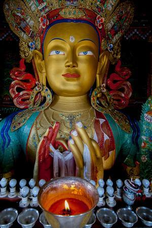 Maitreya Buddha at Thiksey Monastery, Leh, Ledakh, India