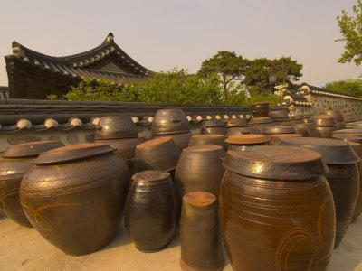 Traditional Korean House, Namsangol Hanok Village, Seoul, South Korea