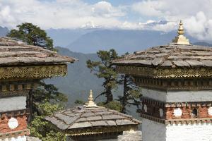 Asia, Bhutan. Druk Wangyal Chortens at Dorchala Pass by Ellen Goff