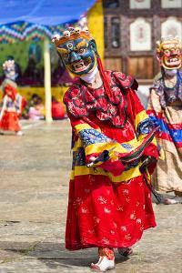 Asia, Bhutan, Gangtey Gonpa. Dance of the Furies by Ellen Goff