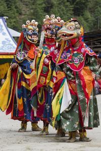 Asia, Bhutan, Haa Tshechu. Dance of the Terrifying Deities by Ellen Goff