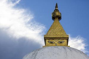 Asia, Bhutan, Punakha Valley. Stupa at the Nunnery by Ellen Goff