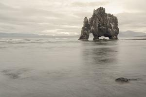 Iceland, Hvitserkur. This sea stack or monolith represents a legend that it was a troll by Ellen Goff