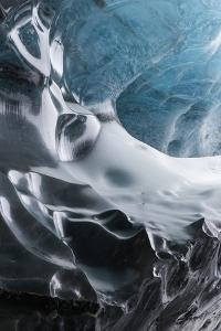Iceland, Skaftafell National Park, Ice details of the Vatnajokull Ice Caves. by Ellen Goff