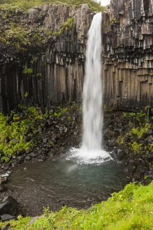 Iceland, Skaftafell National Park, Svartifoss, Black Falls.