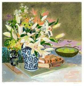 Still Life with Lilies I by Ellen Gunn