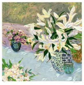 Still Life with Lilies II by Ellen Gunn