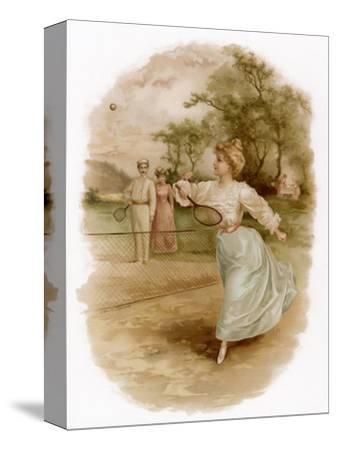 Graceful Backhand in a Victorian Garden