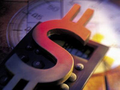 Calculator, Clock, and Dollar Sign
